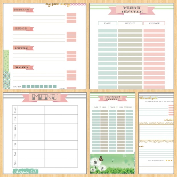 Fitness Planner - Etsy Printables